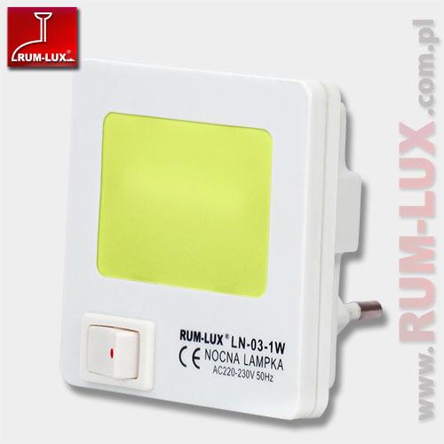 mini lampka LN-03 KWADRAT [żółta]